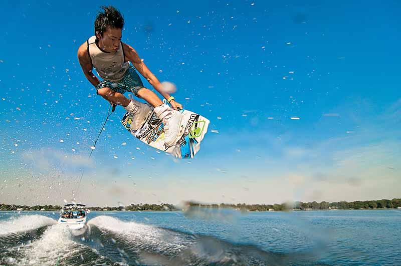 Wakeboard murcia 2016 sobre el rio segura