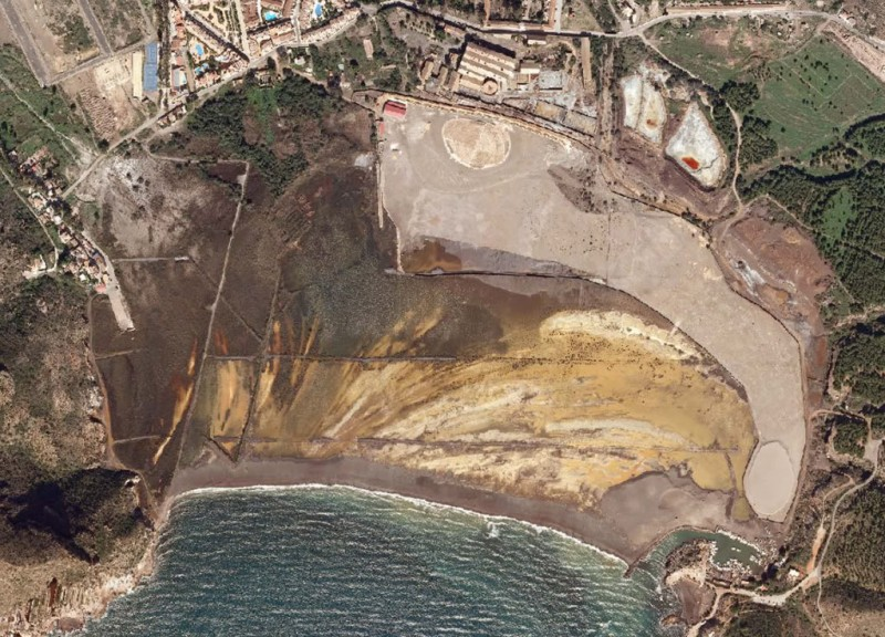 Vista aérea de la Bahía de Portmán