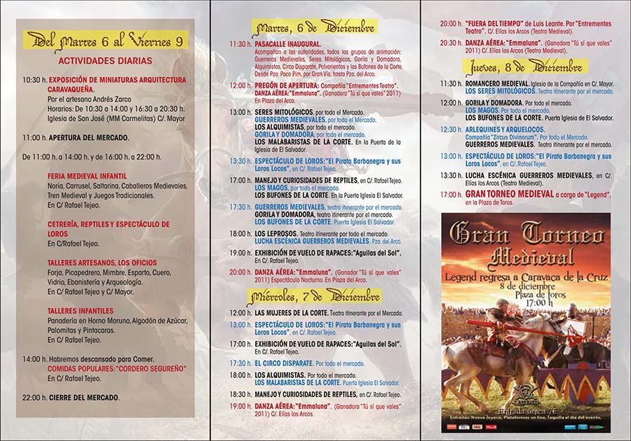 programa xiii mercado medieval de caravaca
