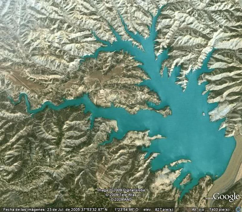 vista aérea del Barranco de Gebas