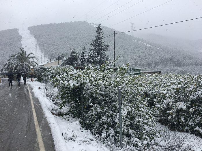 Puerto de la Cadena nevada murcia